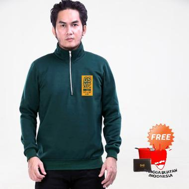 GShop FHM 1464 Outerwear Pria - Green + Free Bag Pouch or Dompet Kartu