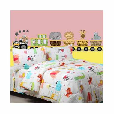 Sierra Zoo Set Sprei dan Bed Cover