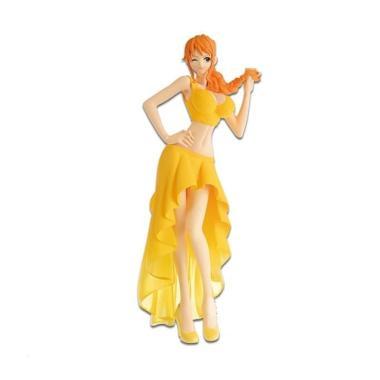 ONE PIECE Lady Edge Wedding NAMI 2 Yellow Dress PVC Figure Banpresto IN STOCK