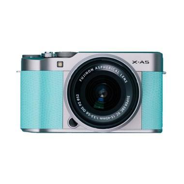 Fujifilm X-A5 Kit 15-45mm Kamera Mirrorless - Mint Green + SANDISK SD ULTRA 16GB + MINI 8 + LEATHER CASE + TAS SIRUI SLINGLITE 8