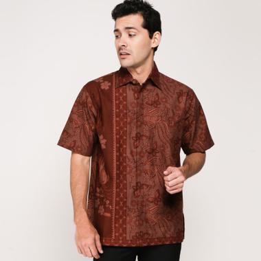 harga Chugbog in style Kemeja Batik Pria - Brown Blibli.com