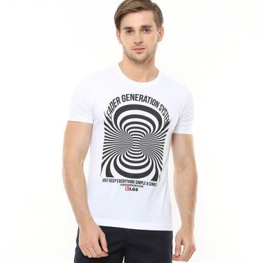 c4866e5d LGS Gambar Sablon Slim Fit Youth T-Shirt Pria - White [GTS.870.P039.32.C]