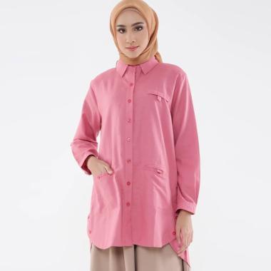 Zahra Signature Tunic Linen Livia Atasan Muslim Wanita