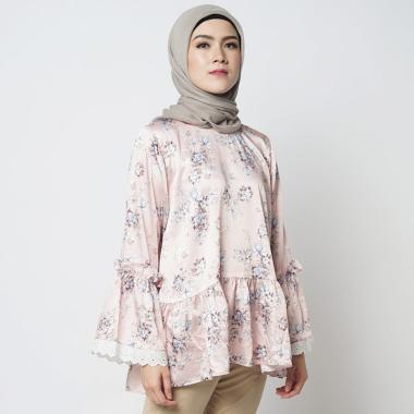 Baghani Jane Top Blouse Muslim Wanita - Floral