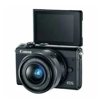 harga DIJAMIN MURAH - Canon EOS M100 Kit 15-45mm Kamera Mirrorless Hitam Legam (B) Blibli.com