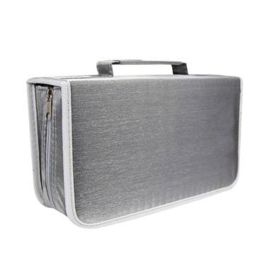 harga Bluelans DVD CD Holder Zipper Album Storage Case Wallet Carrying Bag Organizer - Grey [128 Discs] Blibli.com