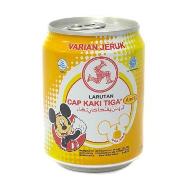 harga Cap Kaki Tiga Orange Minuman Larutan Anak [250 mL/ Can] Blibli.com