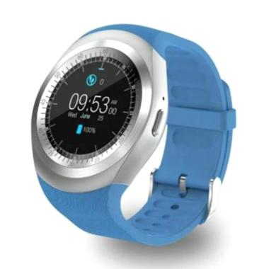 harga Bluelans Bluetooth Sports Round Pedometer Health Monitor Smart Watch for iOS Android Blibli.com