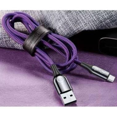Baseus USB Type C Kabel Data - Hitam [Automatic Power Off/ 1 m/ 2.4A]