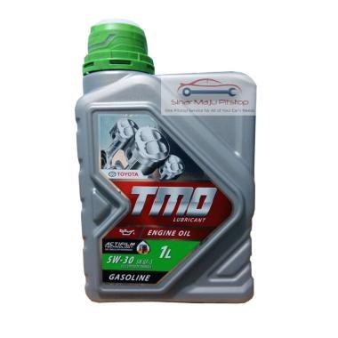 harga Toyota Motor Oil TMO 5W-30 API SN Pelumas Oli Mesin Mobil Full Synthetic [1 Liter] Hijau Blibli.com