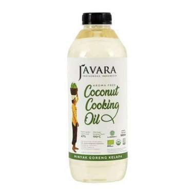Javara Coconut Cooking Oil Non Aroma Minyak Goreng Kelapa [1000 mL/ PET Bottle]]
