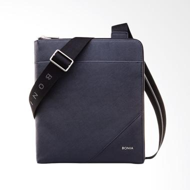 Bonia Signature Messenger Bag - Navy