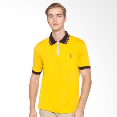 La Bette 102630516 Zip Collar Polo Shirt Pria