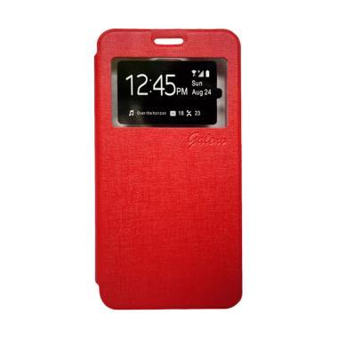 Galeno Flip Cover Casing for Vivo Y15 - Merah