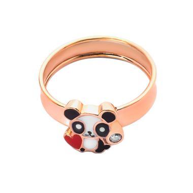 Panda Heart Gold Kids Ring - Cincin Emas Anak Kadar 37,5-WHIZLIZ