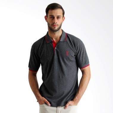 Labette Basic Plain Polo Shirt - Dark Grey