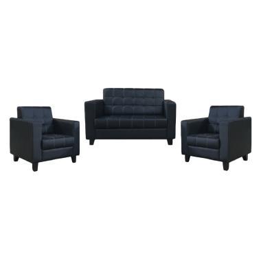 Malibu Victoria 211 Seater Sofa - Hitam
