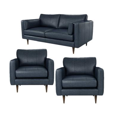Malibu Borges 211 Seater Sofa - Dark Blue