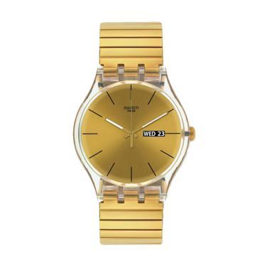 Swatch SUOK702B Jam Tangan Pria - Gold