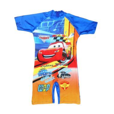 Nice Motif Cars Baju Renang Anak Remaja Laki-laki – Biru Tua