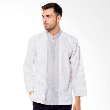 BCD LSN16 Galvano Baju Koko Pria - Putih Abu