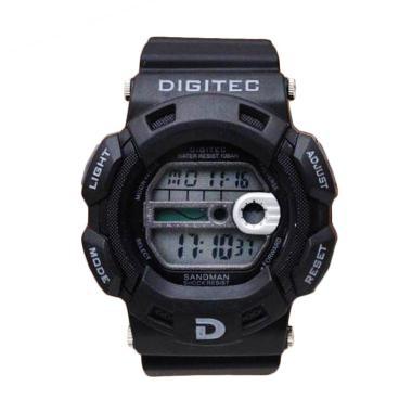 Digitec Rubber Jam Tangan Pria - Black