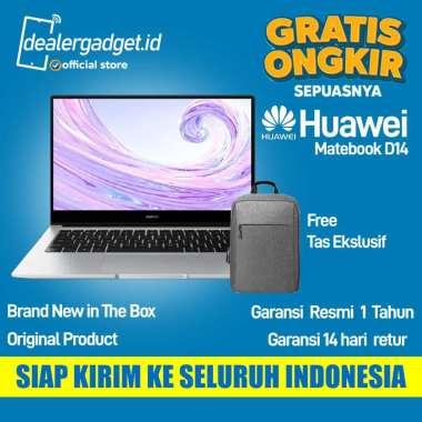 Huawei Matebook D14 Intel i5 8GB 512GB Free Bag Garansi Resmi Silver