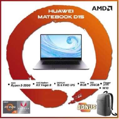 Huawei Matebook D15 Ryzen 5 3500 8GB 256ssd Vega8 W10 15.6FHD IPS FP 2Yrs + SCREEN PROTECTOR
