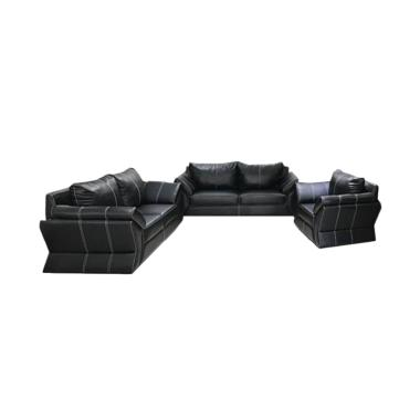 Best Wellington's Terios Sofa Set 321 - Black
