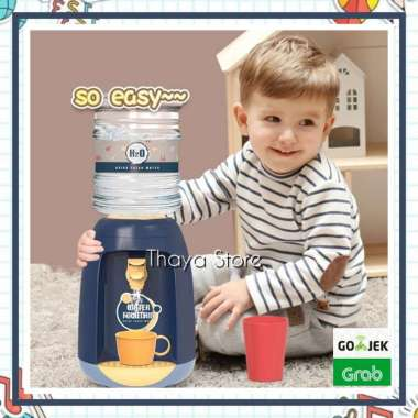 harga Mainan mini dispenser anak - mainan montessori anak - water dispenser 00 Blue Blibli.com