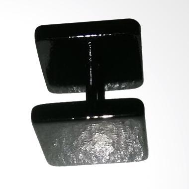 Anneui BP0125 Model Kotak Persegi S … ng Tusuk Piercing – Black