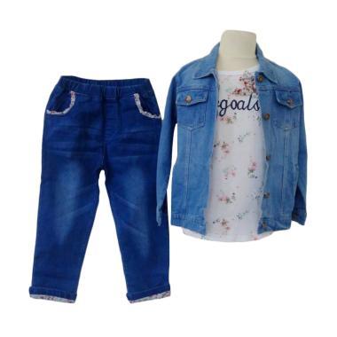 GBS Mee Stelan 3in1 Flower GoGoals Set Jacket Jeans