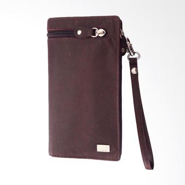 I.L.C Executive Travel Wallet Cum Tempat HP iphone 5.5''- Coklat