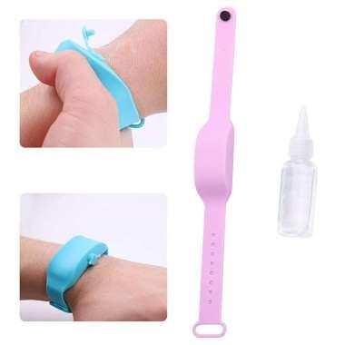 harga Portable Soap Bracelet Hand Sanitizer Dispenser Band Squeeze Bottles Purple Purple Blibli.com