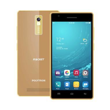 Polytron Rocket T3 R2507i Smartphone - Dark Gold [16 GB/ 1 GB]