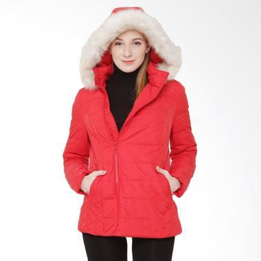 #DIJAMINMURAH - COLDWEAR 16079 Winter Down Jacket Wanita - Red