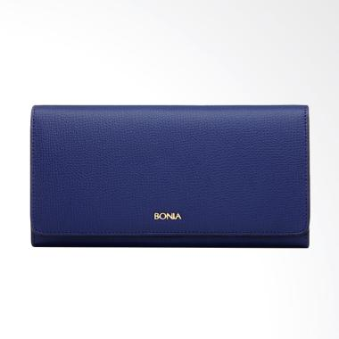 Bonia Blue Foliage Two Fold Wallet - Dark Blue