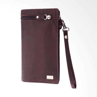 ILC Executive Travel Wallet Dengan Tempat HP iphone 5.5''- Coklat