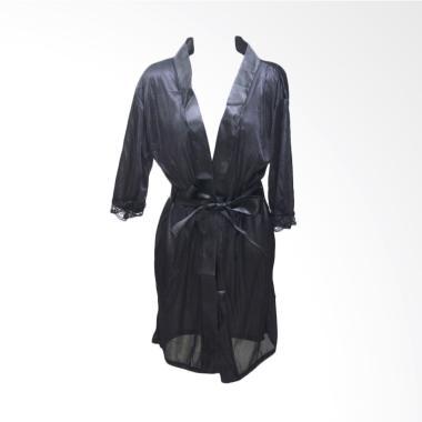 Deoclaus Lingerie Kimono KS1 Fashion Baju Tidur Sexy - Black