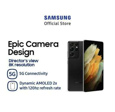 Samsung Galaxy S21 Ultra 5G [512GB/ 16GB] Garansi Resmi SEIN Phantom Black