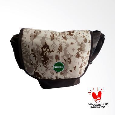 Guienu Messenger Sling Bag Nylon Co ... ing Tas Selempang - Brown