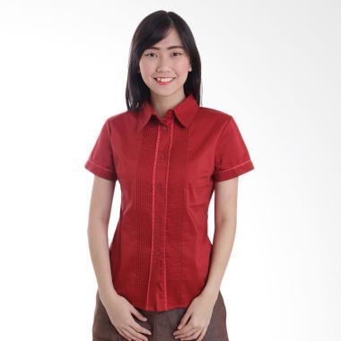 Adore Ladies Neci Kemeja Lengan Pendek Wanita - Red
