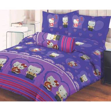 Lady Rose Kitty Daniel Set Sprei - Purple