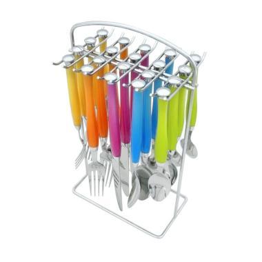 Sendok Set Rainbow Oxone OX-7100 Lo ...  Peralatan Makan [20 pcs]
