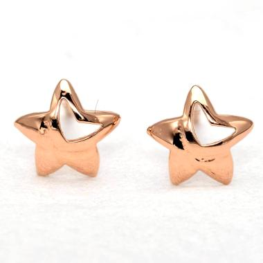 Tiaria Star D3 Earring Anting Emas Perhiasan - Rose Gold