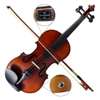 harga Biola Akustik Elektrik EQ Pickup Lespoir Violin 4/4 Cokelat Tua Dark Brown Blibli.com