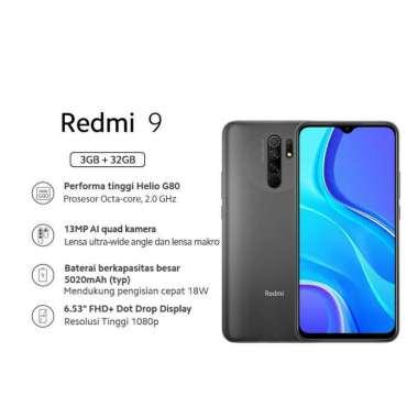 harga Xiaomi Redmi 9 (3GB+32GB) 13MP Quad Kamera Helio G80 Layar 6.53 FHD+ Baterai 5020mAh Garansi Resmi GRAY Blibli.com