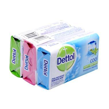 Dettol Family Pack Anti-Bakteri Sabun Mandi [105 g/ 3 pcs]