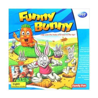 TSH Funny Bunny Ular Tangga Versi 3D Mainan Anak - Multicolour