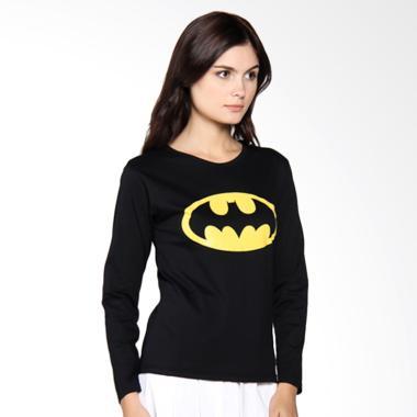JCLOTHES Kaos Lengan Panjang Wanita Batman - Hitam